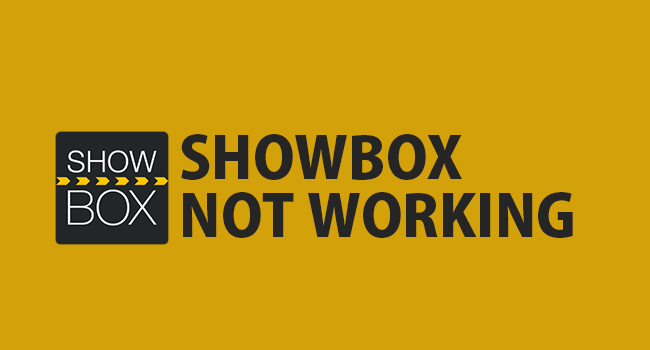 fix showbox not working error