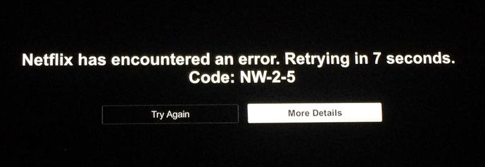 netflix error nw-2-5 on playstation 4 fix